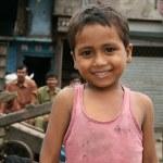 Cute Boy - Slums in Bombaby, Mumbai, India — Stock Photo #11817806