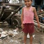 Cute Boy - Slums in Bombaby, Mumbai, India — Stock Photo #11817808