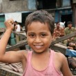 Cute Boy - Slums in Bombaby, Mumbai, India — Foto Stock #11817812