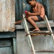 Child in Slums in Bombaby , Mumbai, India — Stock Photo