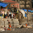 Housing Poverty - Banganga Village, Mumbai, India - Stock Photo