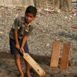 Kids Playing Cricket - Banganga Village, Mumbai, India — Stock Photo #11818078