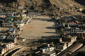 View Over Leh, Ladakh from the Castle on the hill top in India — Stock Photo