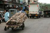 Alt - gecekondu bombaby, mumbai, hindistan — Stok fotoğraf