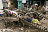 Human Cart - Slums in Bombaby, Mumbai, India — Stock Photo