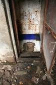 Wc - baraccopoli in bombadi, mumbai, india — Foto Stock