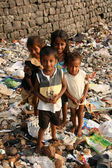 Street Children - Banganga Village, Mumbai, India — Stock Photo