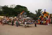 Funfair - Chowpatty Beach, Mumbai, India — Stock Photo