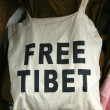 Stock Photo: Free Tibet Bag - Mcleod Ganj, India