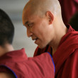 Stock Photo: Buddhist Monk at Home Of Dalai Lama, India
