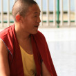 Buddhist Monk at Home Of Dalai Lama, India — ストック写真