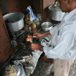 Goat Hoof Cooking - Mcleod Ganj, India — Stock Photo