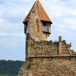 Bells tower of cistercian church, Romania — Stock Photo