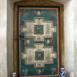 Secular door in the cistercian church from Carta, Romania — Stock Photo