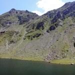 Scene with glacial lake from Romania, Balea lake — Stock Photo