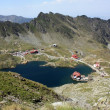 Aerial view over Balea, glacial lake from Romania — Stockfoto