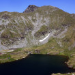 Stock Photo: Mountain landscape with Goat lake from Fagaras mountains