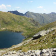 Stock Photo: Capra lake from Fagaras mountains, Romania