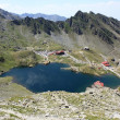 Aerial view over Balea, glacial lake from Romania — Stock Photo