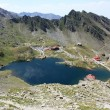 Aerial view over Balea, glacial lake from Romania — Stock Photo #11868882