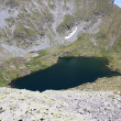 Stock Photo: Goat lake from Fagaras mountains, Romania