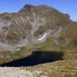 Stock Photo: Glacial Goat lake in Fagaras mountains, Romania