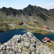 Scene of Balea lake from Transfagarasan, Romania — Stock Photo