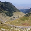 The Transfagarasan winding road in Fagaras mountains, Romania — Stock Photo