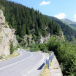 Scene from difficult road of Transfagarasan, Romania — Stock Photo