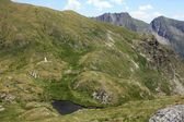 Capra lake from Fagaras mountains, Romania — Stock Photo