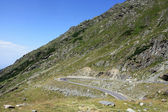 Scene with very difficult road of Transfagarasan from Romania — Stock Photo
