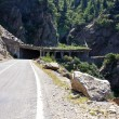 Mountain tunnel on Transfagarasan road, Romania — Stockfoto