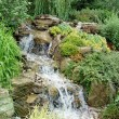 Garden Water Feature - Stock Photo