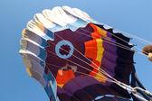 ホット気球の着陸 — ストック写真