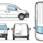 Delivery Van Template - Vector — Stock Vector #11307914