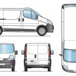 Delivery Van Template - Vector — Stock Vector #11307916