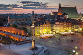 Night panorama of Warsaw — Stock Photo