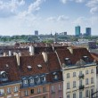 Warsaw roofs seen from the top of viewing terrace. - Zdjęcie stockowe