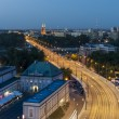 Night view of Warsaw — Stock Photo