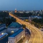 Night view of Warsaw — Stock Photo