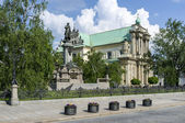 Monument of Adam Mickiewicz in Warsaw, Poland — Stock Photo