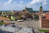 Aerial view of the Warsaw's old town — Stockfoto