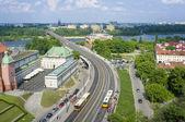 Rio vístula em varsóvia, polónia — Fotografia Stock