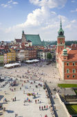 Panoramic view of Old Town in Warsaw — Stock Photo