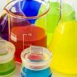 Scientific laboratory glassware — Stock Photo