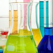 Royalty-Free Stock Photo: Color laboratory glassware