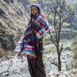 Tibetan woman in Himalaya Mountains - Foto Stock