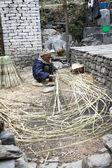 仕事でネパール柳男 — ストック写真