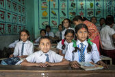 Group of Nepalese pupils in a class — Stock Photo