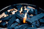 Flame and charcoal — Foto de Stock